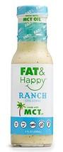 FAT & Happy Ranch Dressing 8oz, KETO, MCT Oil, No Sugar, Gluten Free, Non-GMO