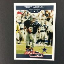 Troy Aikman 2006 Topps True Champions Insert Card #5 NFL HOF Dallas Cowboys - $2.92