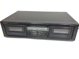 Tested Vintage Onkyo Double Cassette Tape Deck TA-RW303 Stereo Recorder ... - $59.99