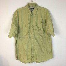 Columbia PFG Men's Beige Short Sleeve Vented Back Button Front Size Large - $17.81