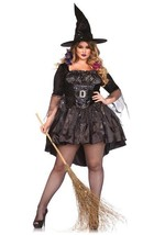 Leg Avenue Magia Negra Mistress Talla Grande Adulto Mujer Halloween Traje 85475X - $59.04