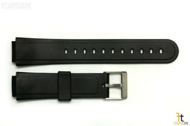 15mm Fits CASIO AW-33 Black Rubber Watch BAND Strap AW-30 AW-34 SW-03 AW-51 - $10.35