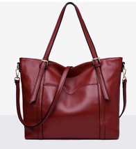 New Pebbled Italian Leather Tote Shopper Handbag Shoulder Bag Purse - $139.95
