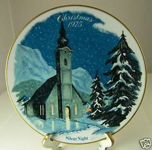 Primary image for Silent Night Christmas Collector Plate from Danbury Mint Limited Edition 1975