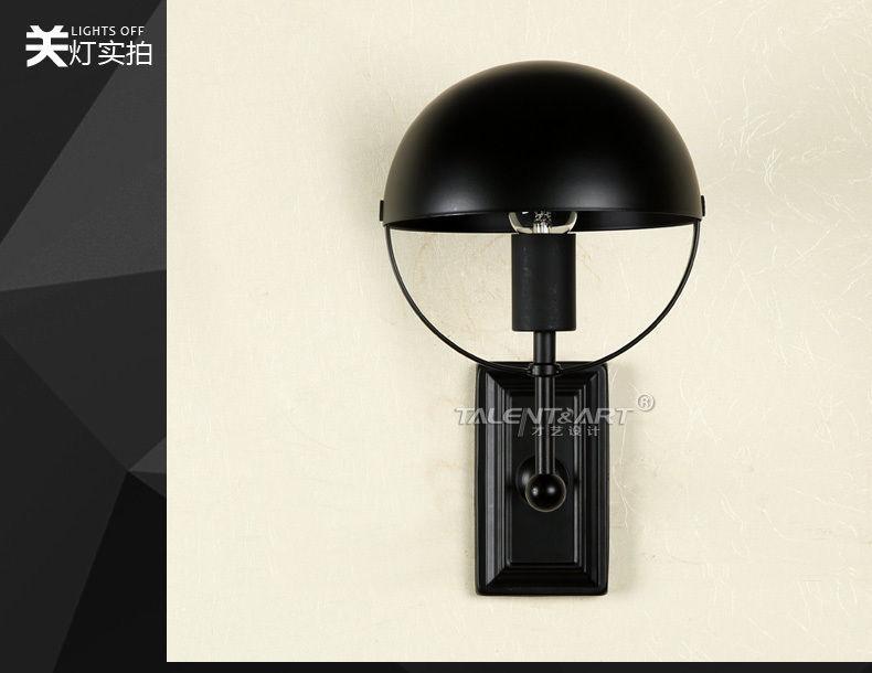 Restoration Hemisphere Sconce E27 Light Wall Lamp Home Cafe Lighting Fixture