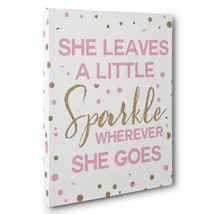 She Leaves A Little Sparkle Canvas Wall Art - $29.21