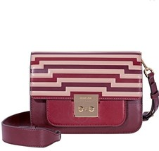 NWT Michael Kors Sloan Editor Tri-Color Leather Shoulder Bag- Oxblood $328 - $175.99