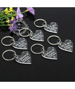 Keyring 30Pcs 30x30 Mm Personalized Engraved Mr & Mrs Surname Clear Acry... - $31.60