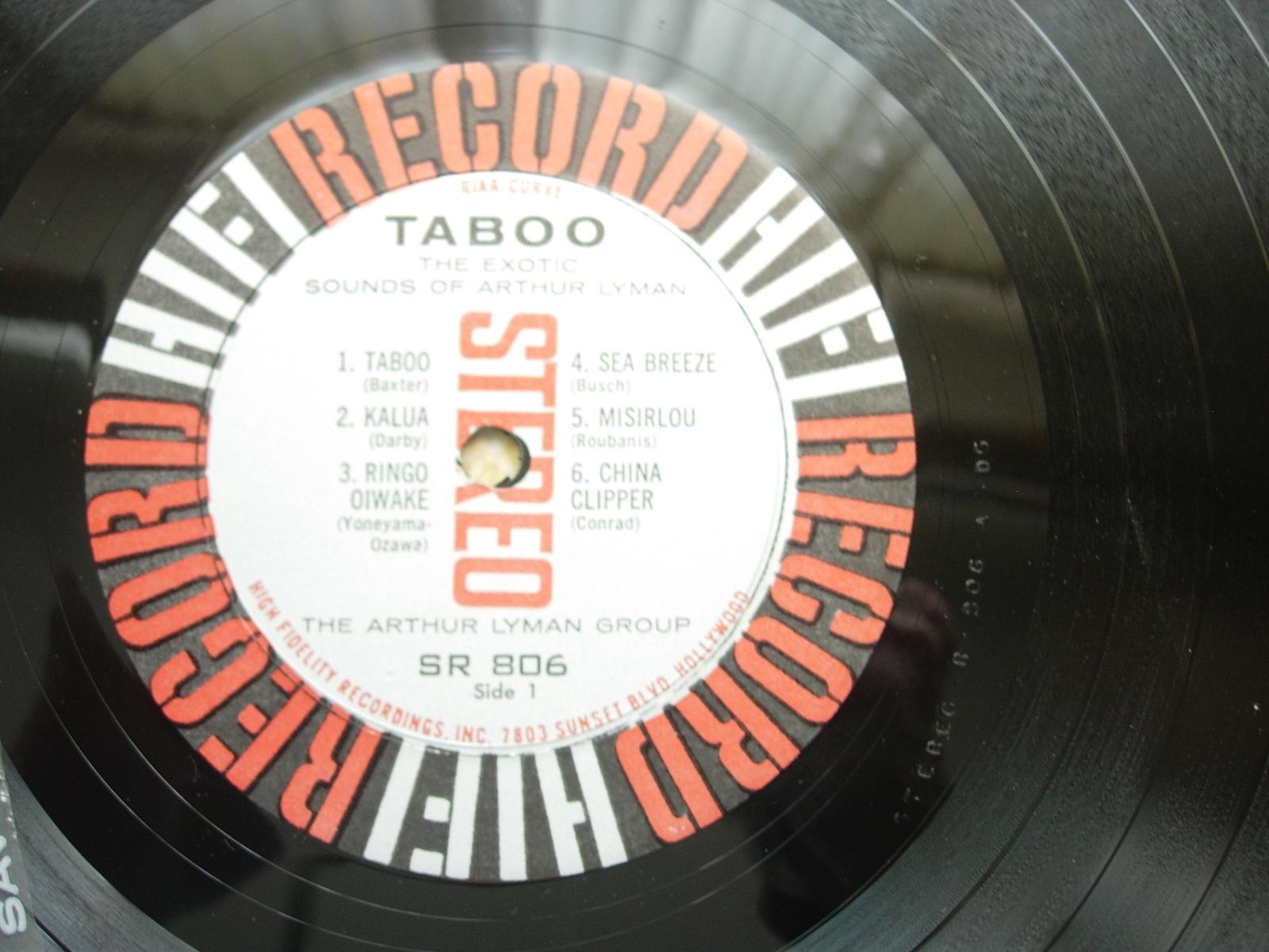 TABOO The Exotic Sounds of Arthur Lyman - HiFi Record R806