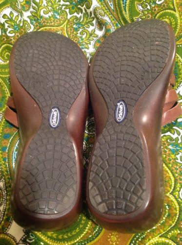 82ccedb6fdf4 DR. SCHOLL S WOMEN S DOUBLE AIR PILLO INSOLES BROWN LEATHER WEDGE SANDALS 9M