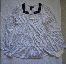 L.A. Kitty Girl's Black/White Polka Dot Long-Sleeve Blouse - $9.99