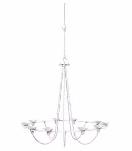 IKEA VASSAD Decorative Chandelier for 10 candles Candlestick White 703.821.52