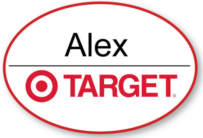 TARGET EMPLOYEE NAME BADGE TAG HALLOWEEN COSPLAY MAGNET BACK