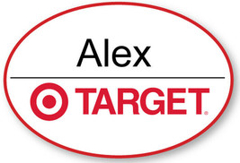 TARGET EMPLOYEE NAME BADGE TAG HALLOWEEN COSPLAY MAGNET BACK - $15.83