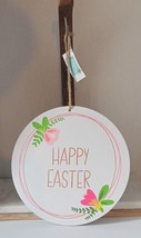 Easter Dual Sided Hanging Sign Happy Easter and Spring is Here - $2.97