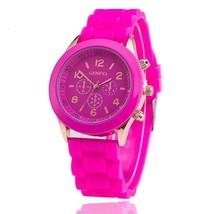 Silicone Geneva Watch Relogio Feminino Fashion Women Wristwatch Casual Luxury Wa - $17.37