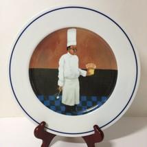 "Chef Albert Dinner Plate William Sonoma Chef Series Guy Buffet 11"" - $17.41"