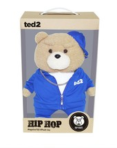 Ezen Creation Hippop Stuffed Animal Teddy Bear Plush Toy 35cm 13.7 inches (Blue) image 2