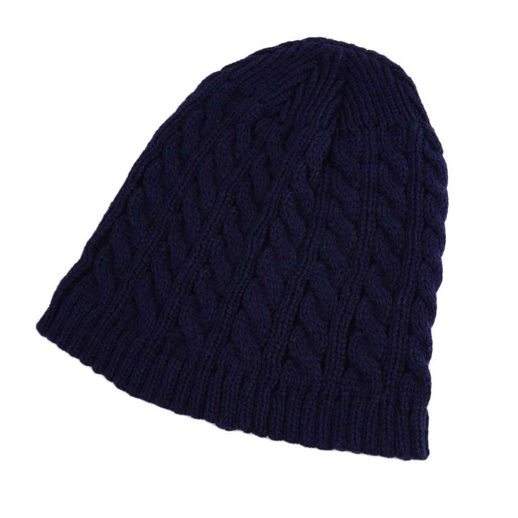 Primary image for Winter Single Layer Men Women Fashionable Twist Cotton Knitted Design Hat Keep W