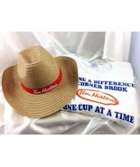 Tim Hortons Lot T-Shirt and Straw Cowboy Hat Lot Unisex Canada Eh Nfld - $49.95