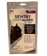 Sentry Fiproguard Cats Topical Treatment for Fleas Ticks Lice 3 month Su... - $12.86