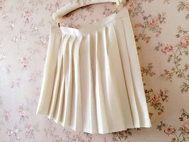 White Pleated Skirts Campus Style Pleated Skirt Girls School Skirts Plus Size image 2