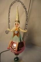 Vntage Inspired Spun Cotton, Girl on Glass Ball,  no.97 image 1