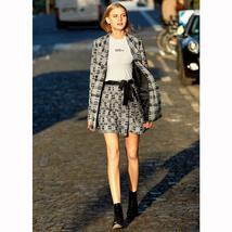 Amii Minimalist Tweed Two Pieces Set Autumn Office Lady Loose Lapel Blazer MIni  image 5