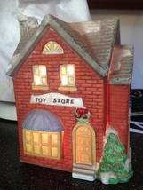 Americana Collectibles Christmas Village Light Up Porcelain Bisque Toy Store - $22.99