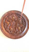 large round pentagram sign insence holder ideal for cones or and sticks