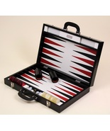 Renzo Romagnoli Leather Backgammon game - Briefcase with handles - $1,089.00