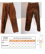 QASTAN Men's New Native American Buckskin Color Suede Leather Cowboy Pan... - $78.21+