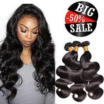 Brazilian Body Wave Human Hair 3 Bundles Virgin Hair Weave Weft Bundles Natural