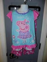 Ballerina Peppa Pig 2 Pc Short Sleeve Pajama Set Size 5 Girl's EUC - $16.02