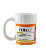 Creative Gifts Caffeine Prescription Pills Bottle Style Ceramic Coffee M... - $24.74