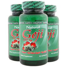 Natural Goji 500mg Super Antioxidant 3 Pack!! by Earth's Creation USA - $24.70
