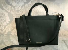 "REBECCA MINKOFF Forest Green Textured Leather ""Regan"" Satchel/Handbag $245 - $117.93"