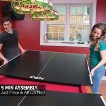 Ping Pong Table Tennis Top with Foam Backing Billiard Table Conversion Top - $424.53