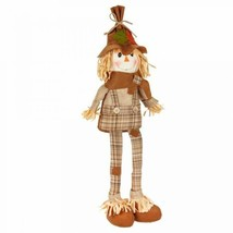 Perfect Harvest Large Scarecrow Shelf Sitter 19in x 7in x 3in Plaid  - $10.00