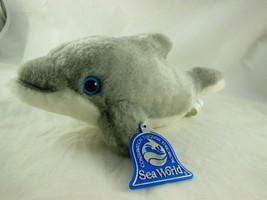 "SEA WORLD w/Tag Soft Stuffed DOLPHIN Plush/Toy Gray/White 9"" (x3) - $4.63"