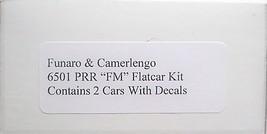 Funaro HO PRR FM' flatcars , 2 cars per Kit 6501 image 3