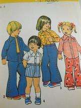 Simplicity 6779 size 3 VINTAGE 1974 Kids Western shirts & Bell pants UNCUT  - $7.91