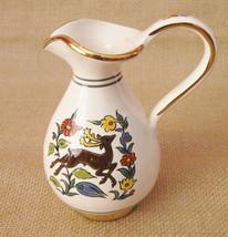 Manousakis Keramik Rodos Greece Hand Made Art Small Vase Greek Creamer E... - $29.99