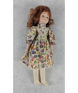 """Brown Haired Floral Dress 12 1/2"""" Tall Doll - $15.83"""