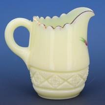 Antique c.1900 EAPG Heisey Cut Block Custard Glass Souvenir of Butte Montana image 2