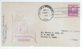 First Trip Highway Post Office SIGNED 1949 Scranton Harrisburg Trip 2 HP... - $3.95