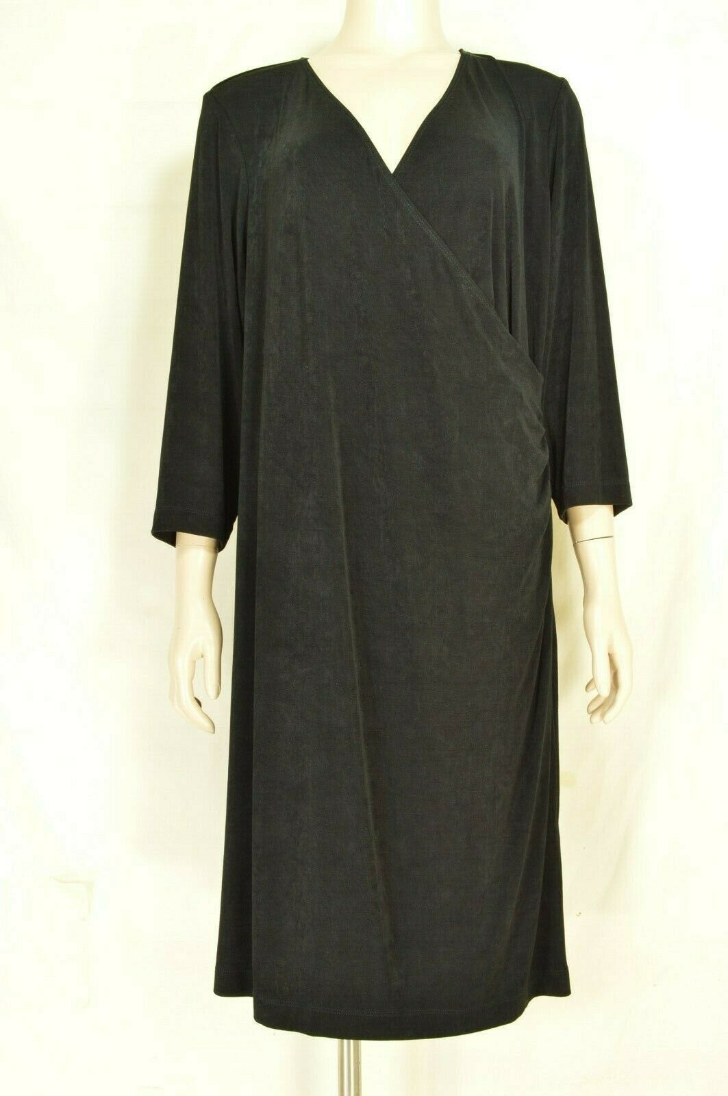 Primary image for Chico's dress Travelers SZ 2 black LBD faux wrap dress up or down