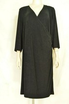 Chico's dress Travelers SZ 2 black LBD faux wrap dress up or down - $29.69