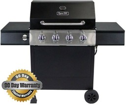 Dyna-Glo 4-Burner Open Cart LP Gas Grill in Black - $148.49