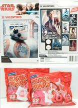 Star Wars 32 Valentine Cards With Mini Lollipops Classroom Exchange Bundle - $17.81